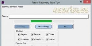 Farbar Recovery Scan Tool Ekran Görüntüsü
