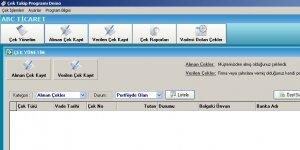 Fenesoft Çek Takip Programı Ekran Görüntüsü