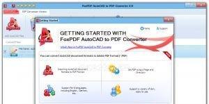 FoxPDF AutoCAD to PDF Converter Ekran Görüntüsü
