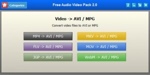 Free Audio Video Pack Ekran Görüntüsü