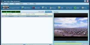Free CUDA Video Converter  Ekran G�r�nt�s�