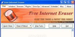 Free Internet Eraser Ekran Görüntüsü