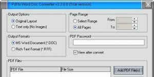 Free PDF to Word Doc Converter Ekran G�r�nt�s�