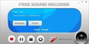 Free Sound Recorder Ekran G�r�nt�s�