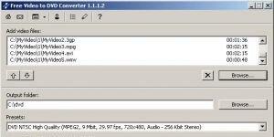 Free Video to DVD Converter Ekran Görüntüsü