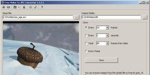 Free Video to JPG Converter Ekran Görüntüsü