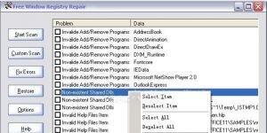 Free Window Registry Repair Ekran G�r�nt�s�