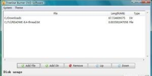FreeStar Burner-DVD Software Ekran Görüntüsü
