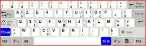 Geni�letilmi� T�rk�e Klavye Ekran G�r�nt�s�