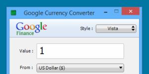 Google Currency Converter Ekran G�r�nt�s�