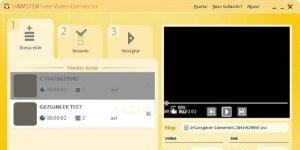 Hamster Free Video Converter Ekran G�r�nt�s�