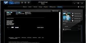 HP MediaSmart Music Yazılımı Ekran Görüntüsü