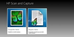 HP Scan and Capture Ekran G�r�nt�s�