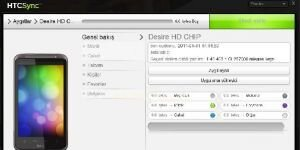 HTC Sync Ekran G�r�nt�s�