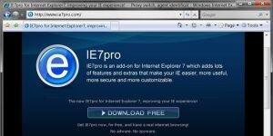 IE7pro Ekran Görüntüsü