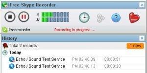 iFree Skype Recorder Ekran G�r�nt�s�