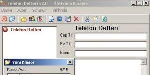 İhtiyaca Binaen Telefon Defteri Ekran Görüntüsü