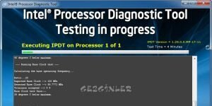 Intel Processor Diagnostic Tool Ekran G�r�nt�s�