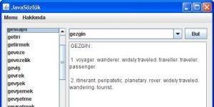 JavaSözlük Ekran Görüntüsü