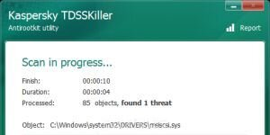 Kaspersky TDSSKiller Ekran Görüntüsü