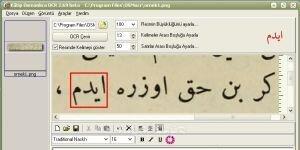 KÂTİP OSMANLICA OCR Ekran Görüntüsü