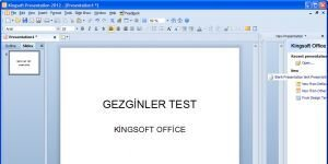 Kingsoft Office Suite Free Ekran G�r�nt�s�