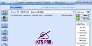 KTS Muhasebe Programı Ekran Görüntüsü
