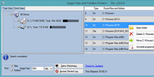 Large Files and Folders Finder+ Ekran G�r�nt�s�
