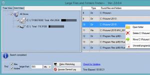 Large Files and Folders Finder+ Ekran Görüntüsü