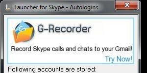 Launcher for Skype Ekran G�r�nt�s�