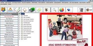 MacAW Araç Servis Otomasyonu    Ekran Görüntüsü