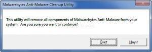 Malwarebytes Anti-Malware Cleanup Utility Ekran Görüntüsü