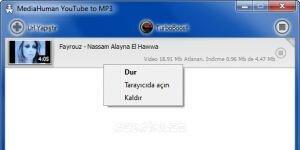 MediaHuman YouTube to MP3 Ekran G�r�nt�s�