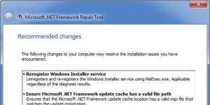 Microsoft .NET Framework Onarım Aracı Ekran Görüntüsü