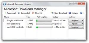 Microsoft Download Manager Ekran G�r�nt�s�