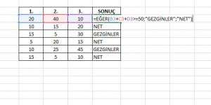 Microsoft Excel Ekran Görüntüsü