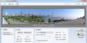 Microsoft Image Composite Editor Ekran Görüntüsü