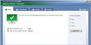 Microsoft Security Essentials Ekran G�r�nt�s�