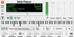 Midi Player Ekran Görüntüsü