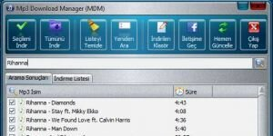 Mp3 Download Manager (MDM) | Bedava Mp3 �ndirme Program� Ekran G�r�nt�s�