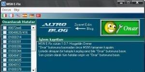 MSN E-Fix Ekran Görüntüsü