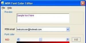 MSN Font Color Editor Ekran G�r�nt�s�