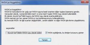 NVDA - Ekran Okuyucu Ekran Görüntüsü