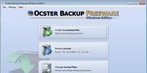 Ocster Backup Freeware Ekran Görüntüsü