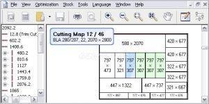 OptiCUT - Panel ve profil kesim optimizasyon program� Ekran G�r�nt�s�