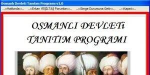 Osmanl� Devleti Tan�t�m Program� Ekran G�r�nt�s�