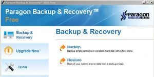Paragon Backup & Recovery Ekran G�r�nt�s�
