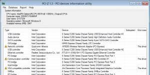PCI-Z Ekran Görüntüsü