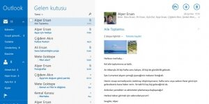 Posta, Takvim ve Kişiler Ekran Görüntüsü