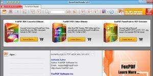 FoxPDF PowerPoint Reader Ekran G�r�nt�s�